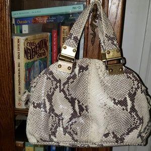 Cynthia Rowley snakeskin pattern handbag